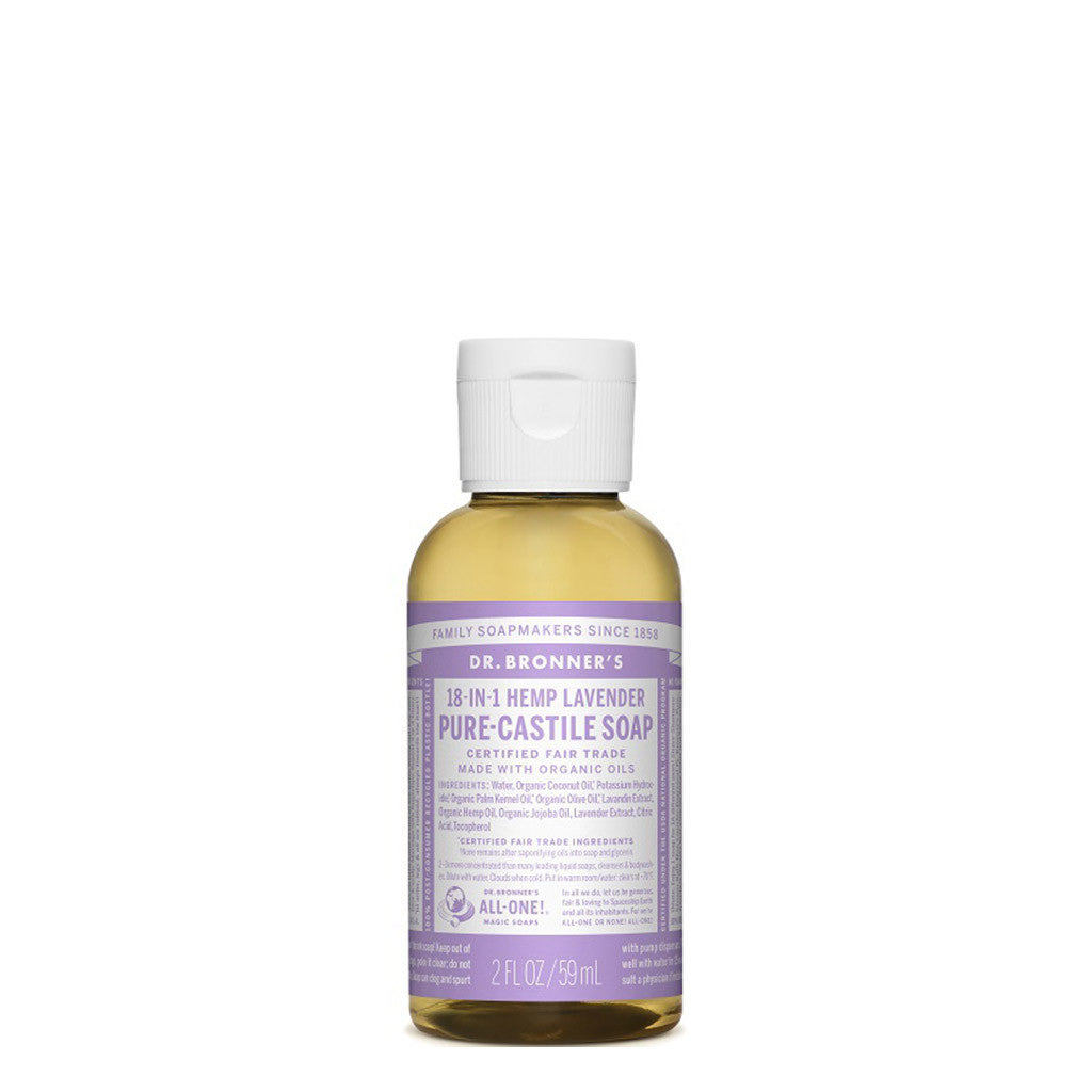 DR BRONNER PURE CASTILE LIQUID SOAP TRAVEL LAVENDER