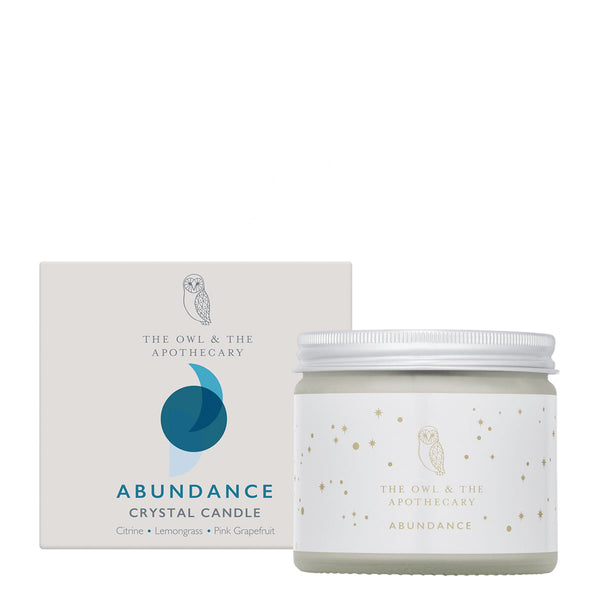 The Owl and The Apothecary Abundance Crystal Candle | UK Stockist