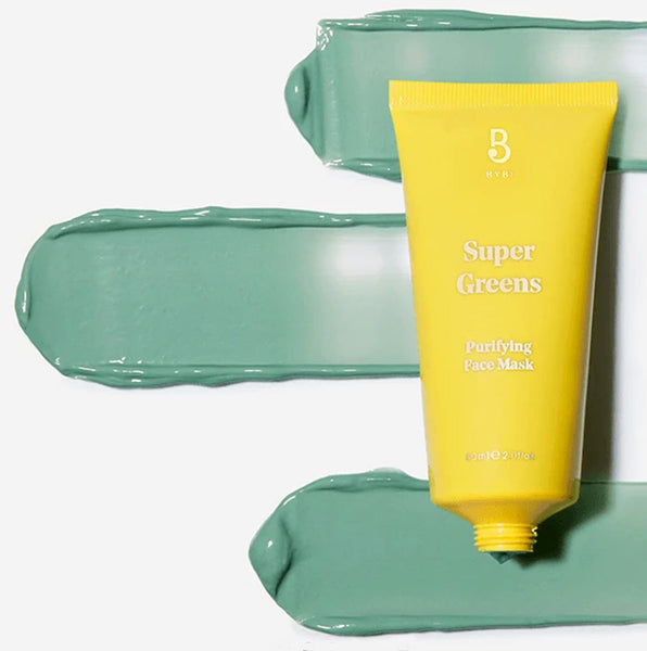 Bybi Super Greens Purifying Face Mask Swatches