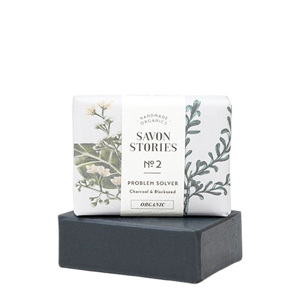 Savon Stories Charcoal Face Wash | Organic & Handmade | Content UK