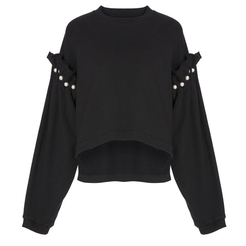 Mother Of Pearl Dani Sweatshirt Black | Sustainable Clothing