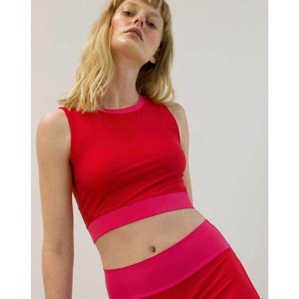 Go As U R Halter Red | Sustainable Activewear | Instore & Online UK
