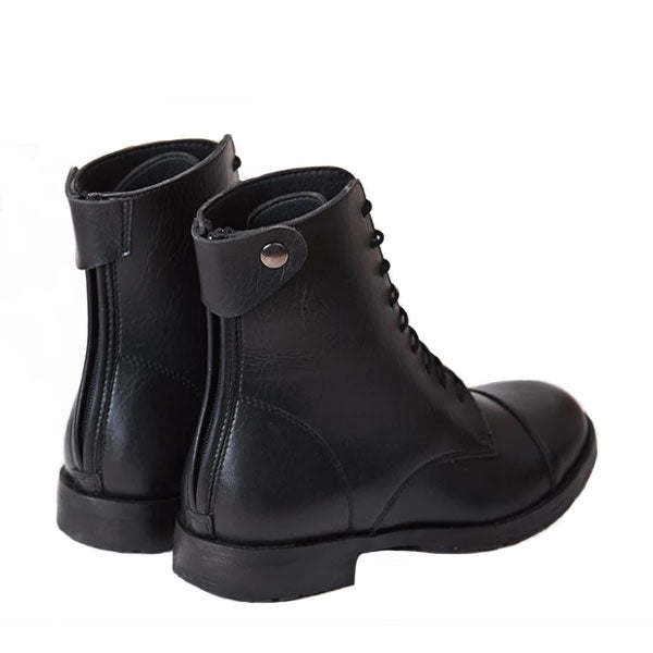 Good Guys Don't Wear Leather Norider Black Boots - SALE