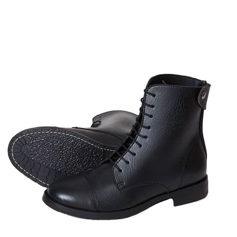 Good Guys Don't Wear Leather Norider Black Boots