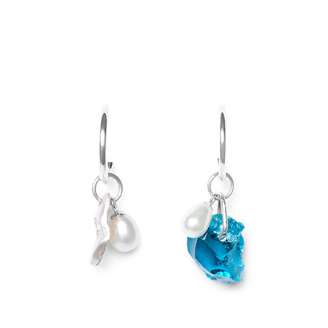 Hannah Rings Blue Glass Earrings | Hand Crafted Jewellery | Content UK