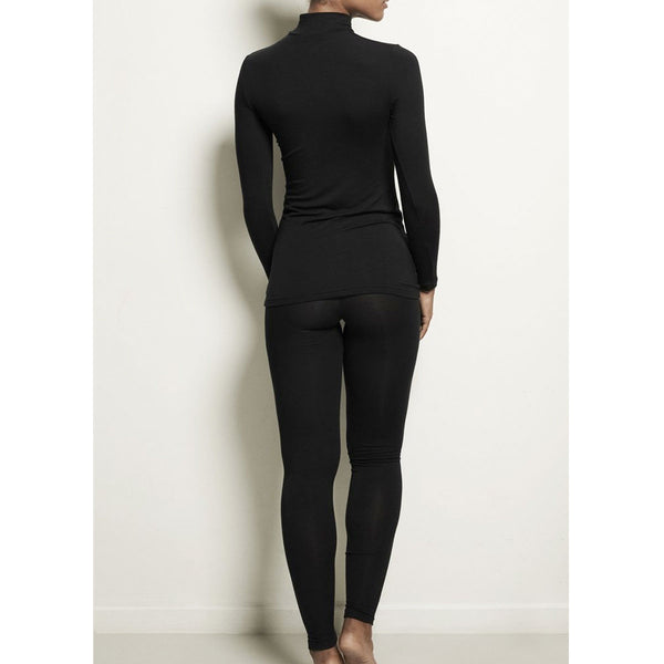 Woron Sleek L. Sleeve Black | Sustainable Fashion Loungewear | UK Stockist