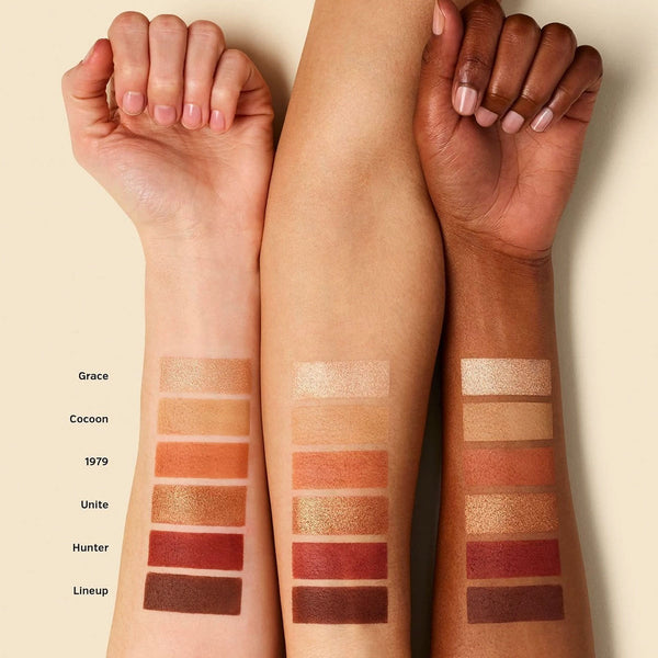 Ilia The Necessary Eyeshadow Palette Swatches of Warm Nude