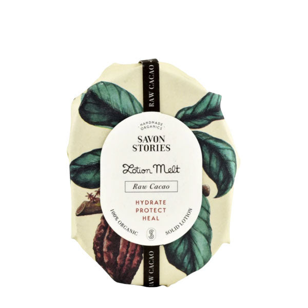 Savon Stories Lotion Melt Raw Cacao | Organic & Handmade | Content UK