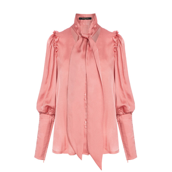 Mother Of Pearl Clara Shirt With Puff Sleeves Pink | Sustainable Clothing