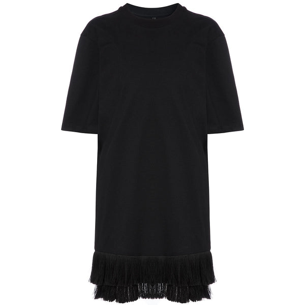Mother Of Pearl Mackenzie T-Shirt Dress Black | Organic Cotton Clothing