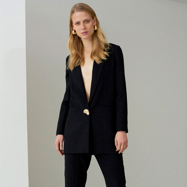 Mother Of Pearl Marlo Blazer Jacket Black | Sustainable Clothing