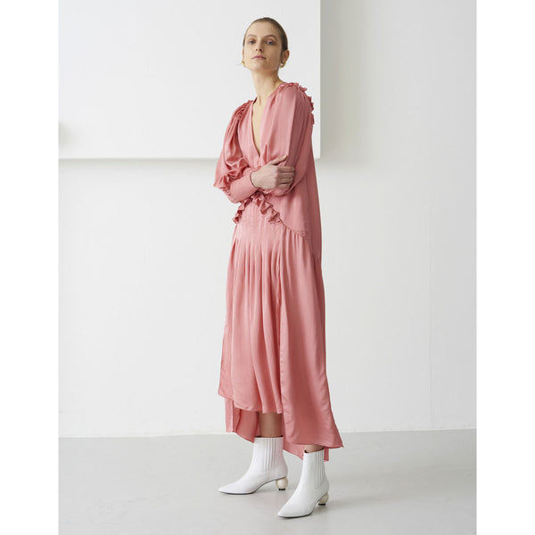 Mother Of Pearl Olivia Satin Dress Pink | Sustainable Clothing