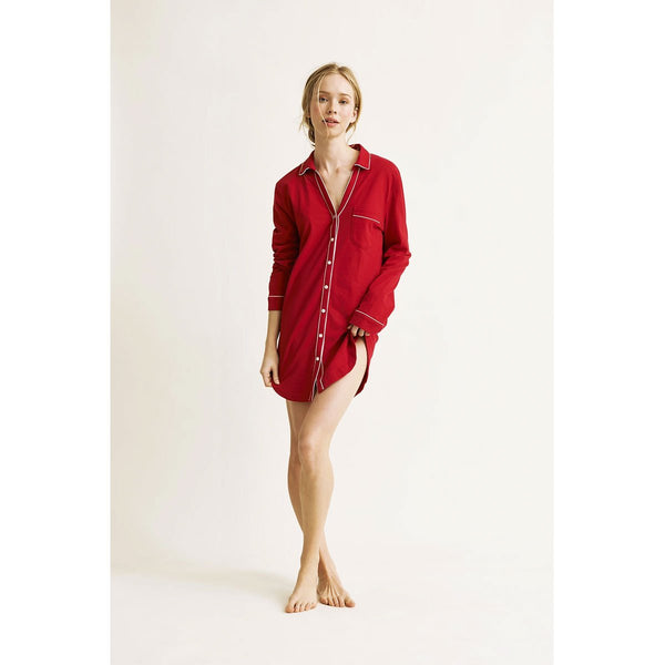 Natural Skin Pia Sleepshirt Crimson
