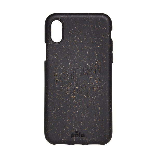 official photos fa639 97d69 Pela iPhone Case Return to Earth Black | Zero Waste | Content UK Store