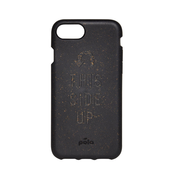 Content X Pela Iphone Case This Side Up Black | Content Beauty | Sustainable