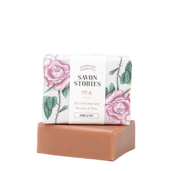 Savon Stories № 4 Pink Clay Bar Soap | Organic & Handmade | Content UK