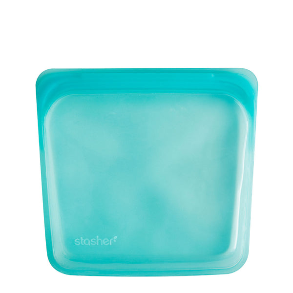Stasher Reusable Silicone Sandwich Bag Aqua