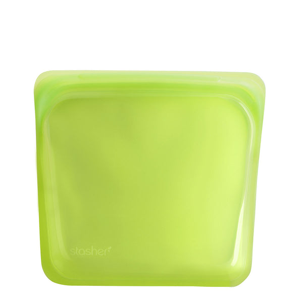 Stasher Reusable Silicone Sandwich Bag Lime