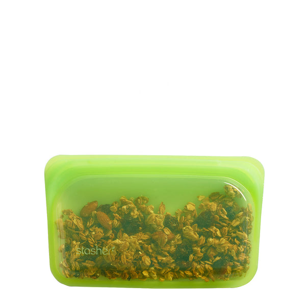Stasher Reusable Silicone Snack Bag Lime