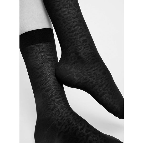 Swedish Stockings Emma Leopard Socks | Sustainable Socks | Content UK
