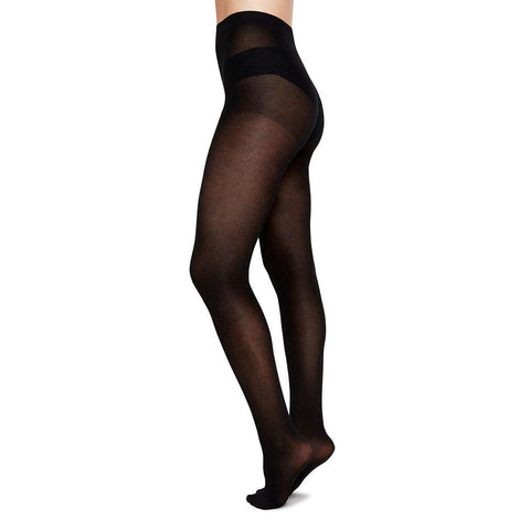 Swedish Stockings Stina Premium Bio-Cotton Tights Black | Sustainable Tights