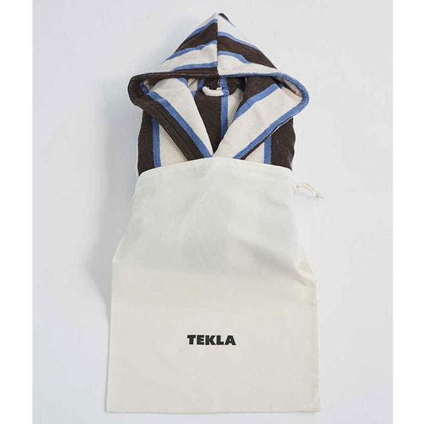 Tekla Organic Cotton Terry Bathrobe Stripe