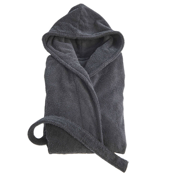 Tekla Organic Cotton Terry Bathrobe Ash Black