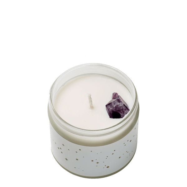The Owl and The Apothecary Wellbeing Crystal Candle | UK Stockist