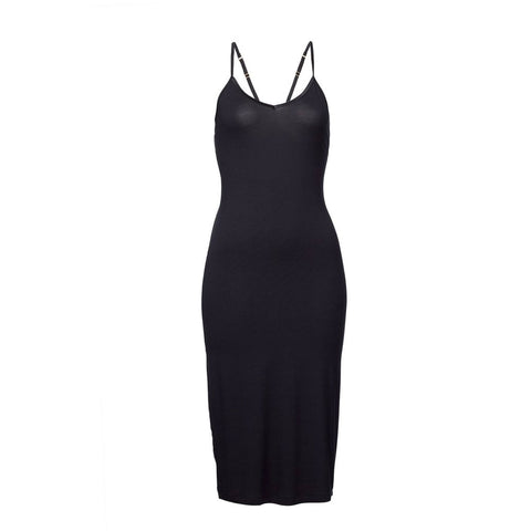 Woron Slip Midi Black | Sustainable Loungewear | UK Stockist