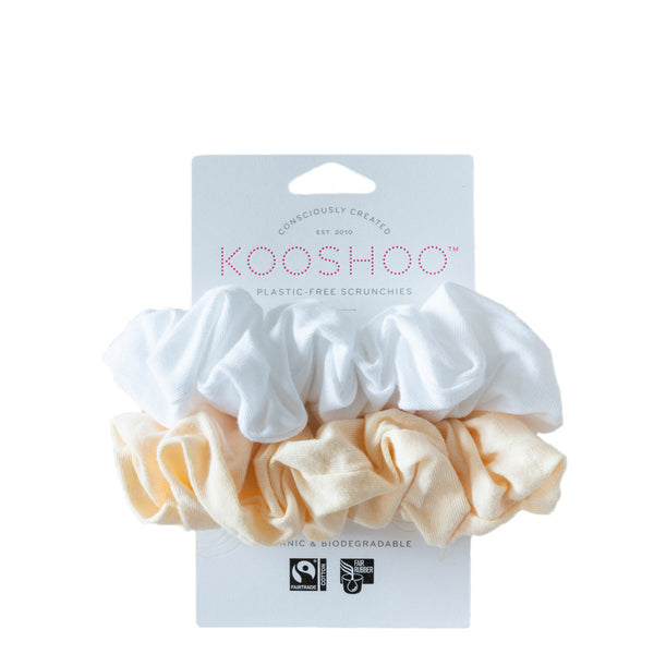 Kooshoo Organic Hair Scrunchies in Natural Light | Plastic Free Hair Accessories