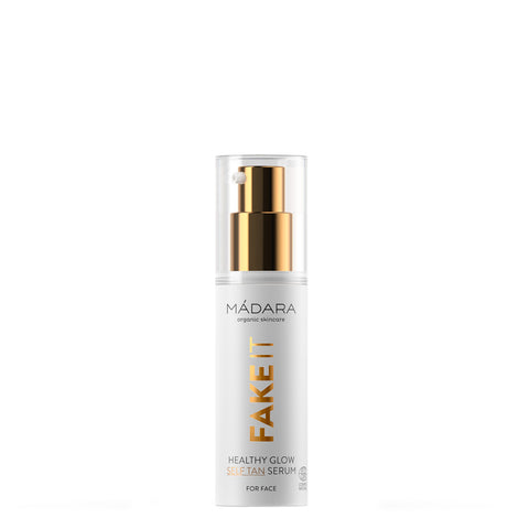 Madara Fake It Healthy Glow Self Tan Serum for Face | Natural Self-Tan