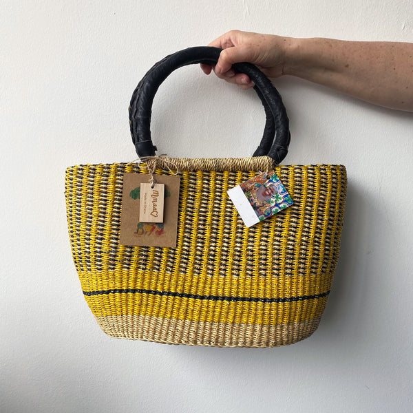 Mmaa Rita Basket | Handmade Straw Basket UK