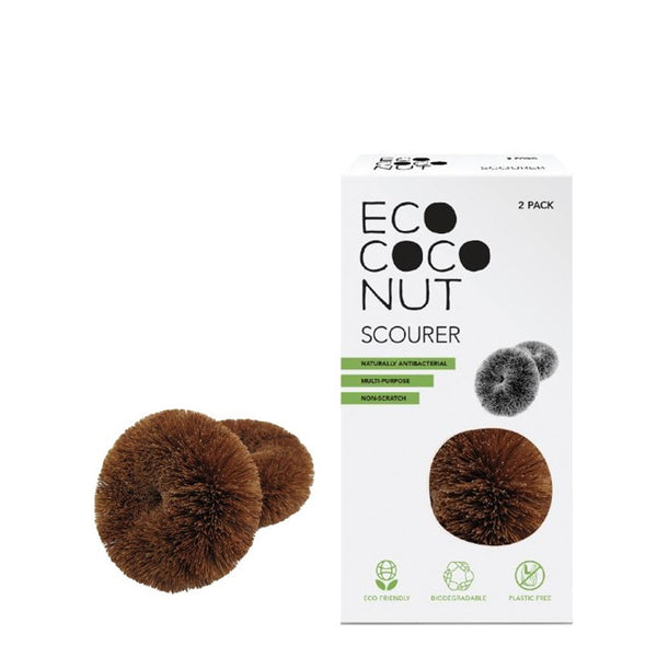 Ecococonut Twin Pack Scourer UK Stockist