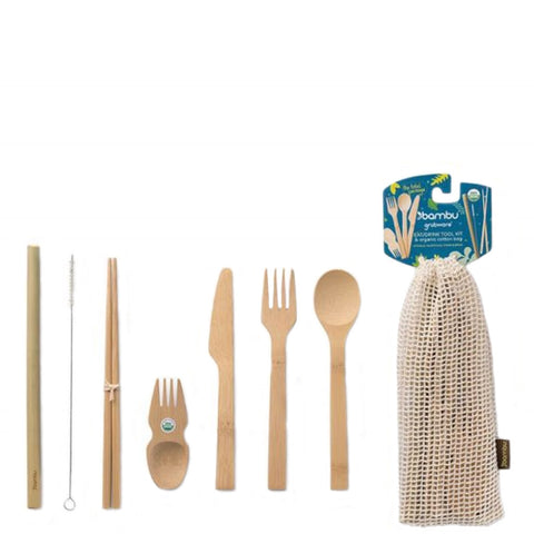 Slice Of Green Eat/Drink Tool Kit | Reusable Utensils | Eco-Friendly Cutlery Set