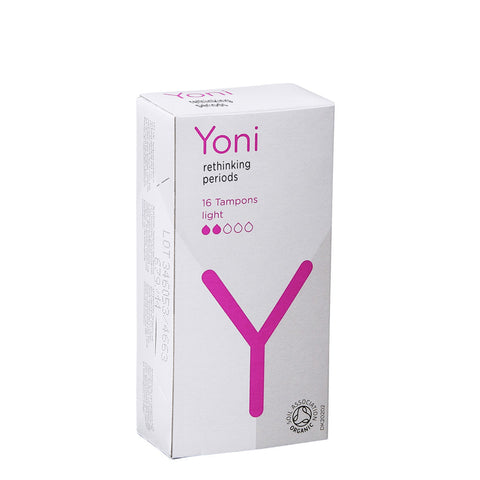 Yoni Care Organic Cotton Tampons VAT FREE Sanitary UK Light