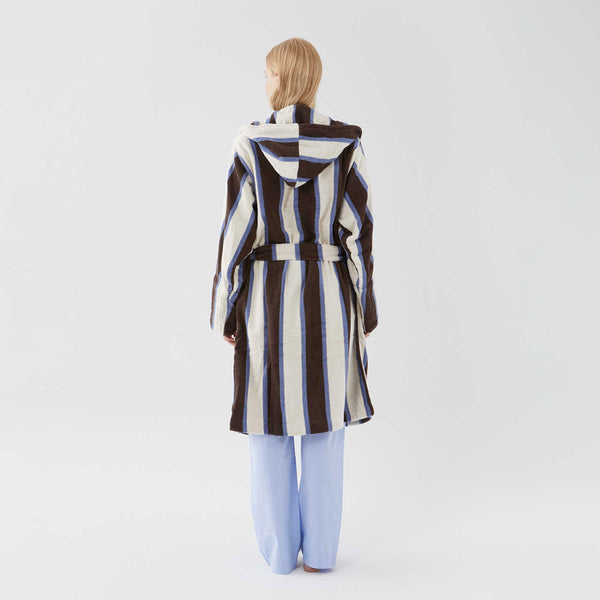 Tekla Organic Cotton Terry Bathrobe Stripe | UK Stockist | Free Delive…