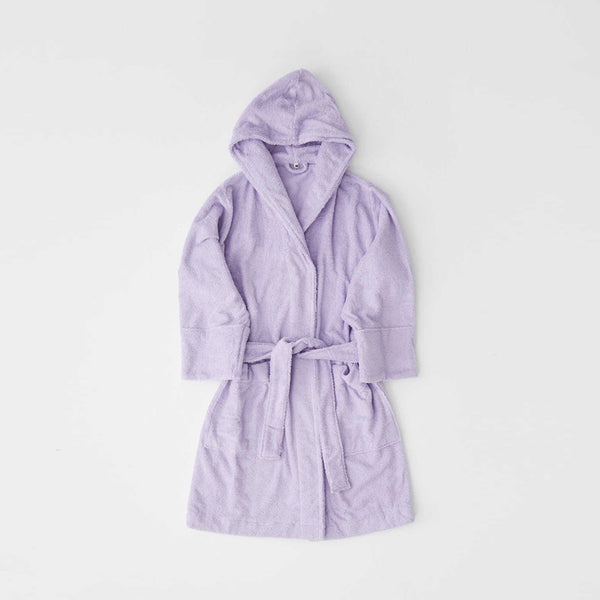 Tekla Organic Cotton Bathrobe Lavender | Organic Sleepwear UK