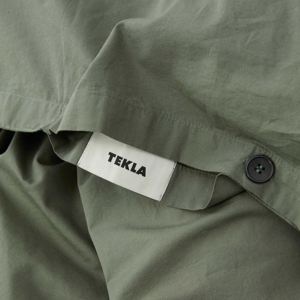 Tekla Organic Cotton Bedding Olive Green | Organic Bedroom UK