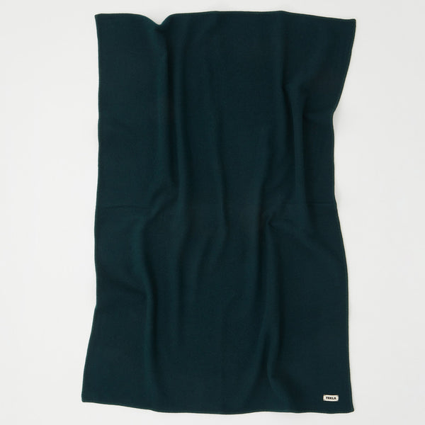Tekla Pure Wool Blanket Dark Green | CONTENT Bedroom UK