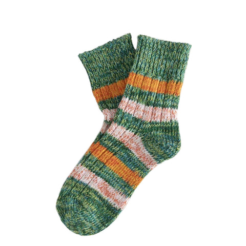 Thunder Socks Island Collection Brooklyn Green | Organic Cotton UK