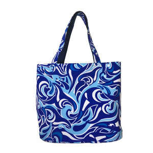 Blue Oversized Reversible Tote