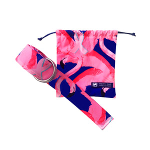 Pink Ribbon Paradise Flamingo Belt