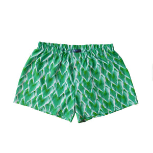 Boxer Shorts - Green Hosta Leaves