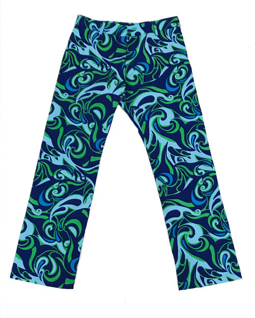Miami Waves Green Party Pants