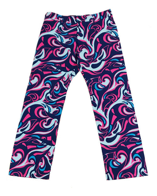 Miami Waves Pink Party Pants
