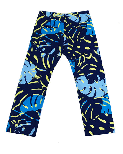 Miami Leaves Yellow Party Pants