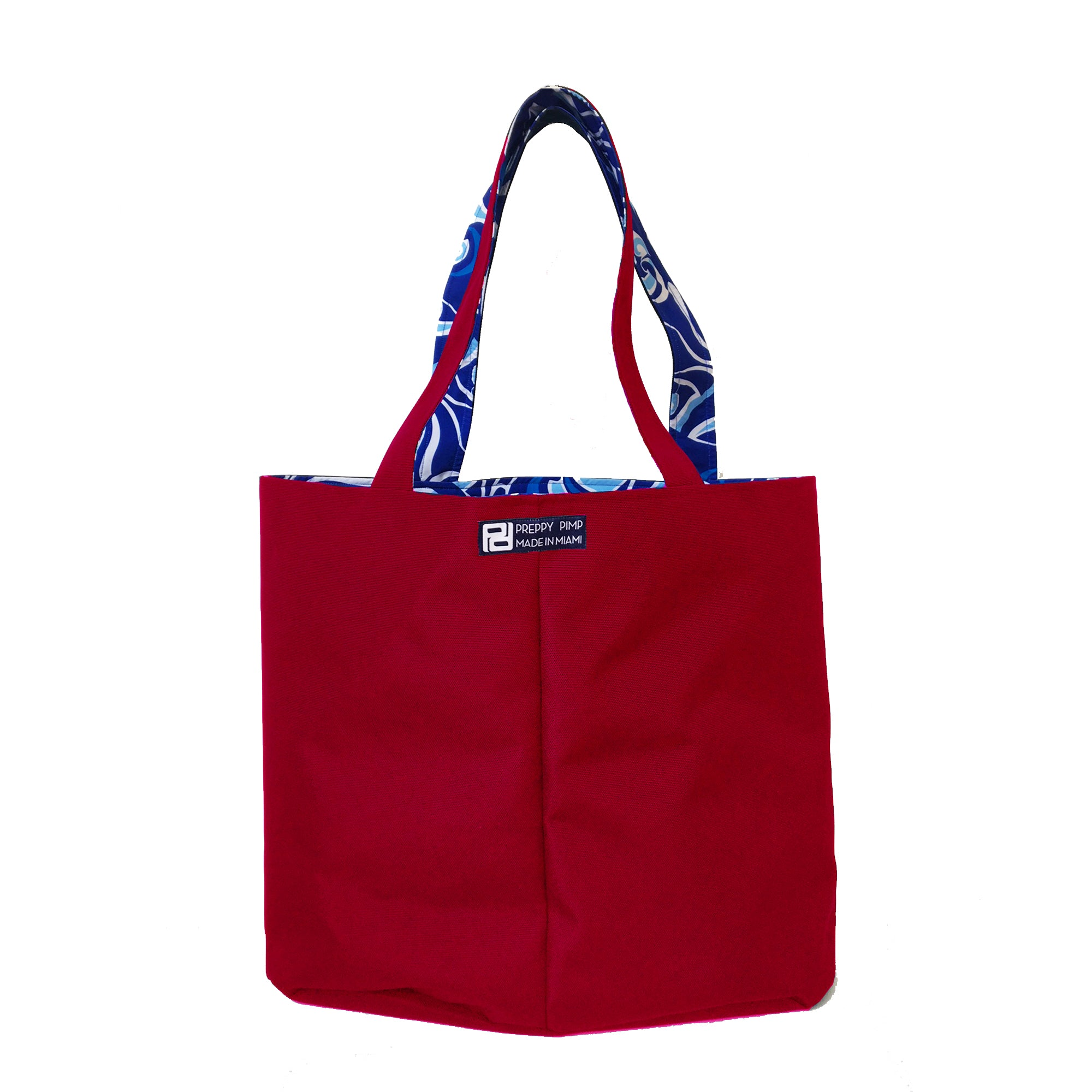 Red Oversized  Reversible Tote