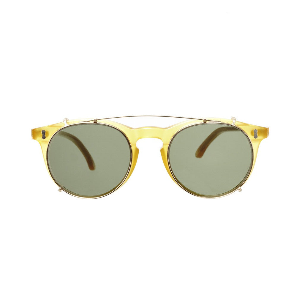 9d8198d614 Pleat Honey Acetate Frame - Bottle Green Lenses - Retromarine Middle ...