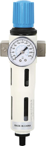 "1/4"" Air Filter/Regulator w/ Gauge, With Auto Drain EA"