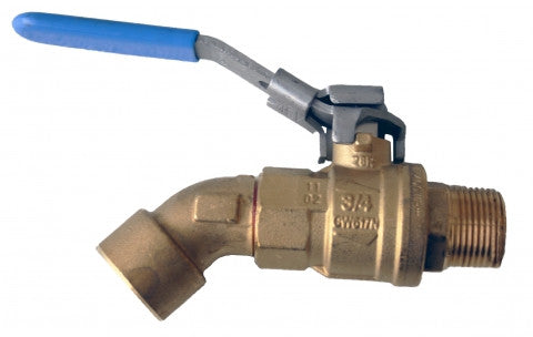 "699F 1""X1"" ANGLED BALL VALVE STYLE FAUCET FOR ETHANOL EA"